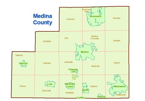 Medina County Search Medina County Ohio Map