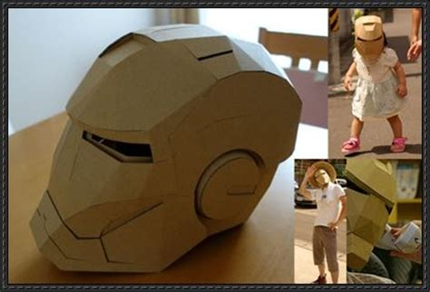 How To Make Iron Helmet With Paper - new paper craft size iron helmet papercraft