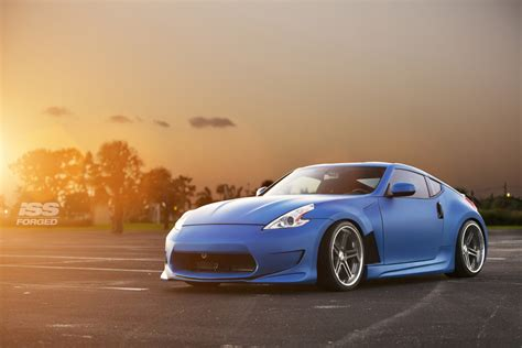 nissan 370z custom blue nissan 370z on iss forged complex 5 iss forged