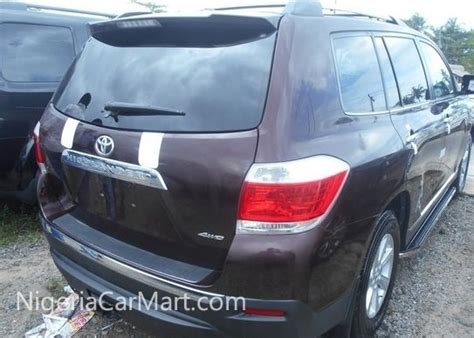 Car Covers For Sale In Lagos 2012 Toyota Highlander Limited Edition Used Car For Sale