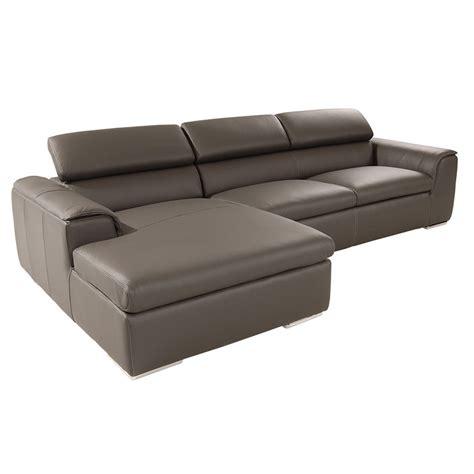 Amalfi Gray Leather Sofa El Dorado Furniture Amalfi Leather Sofa