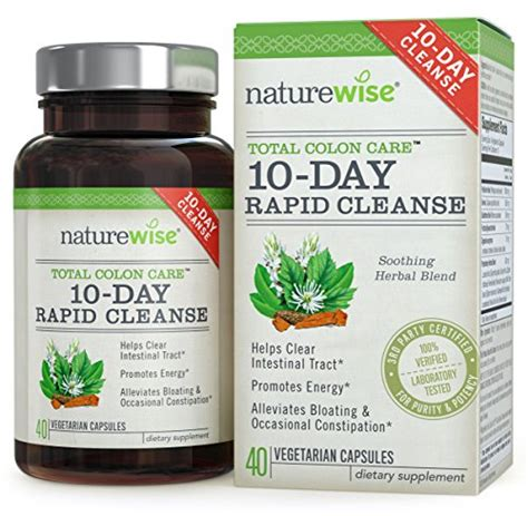 Detox For Bloating And Weight Loss by Naturewise 10 Day Rapid Cleanse For Colon Health Detox