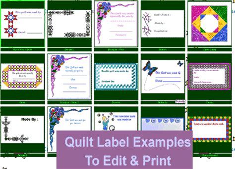 Free Quilt Labels by Free Quilt Label