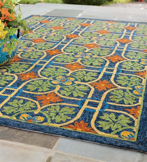 outdoor rugs talavera tile indoor outdoor rug 8 x 10 indoor