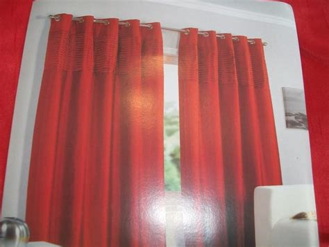 red curtains for sale red faux silk lined curtains 66x54 01l for sale in