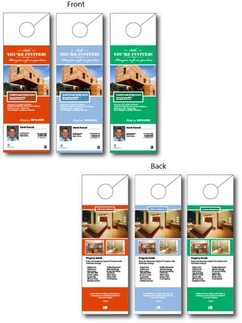 Popular Of Door Hanger Design Real Estate With Real Estate Door Hangers Centralazdining Open House Door Hanger Template