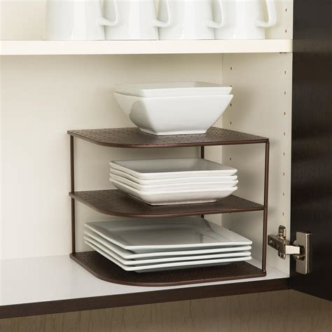 seville classics corner kitchen cabinet organizer bronze amazon com seville classics 3 tier corner shelf counter