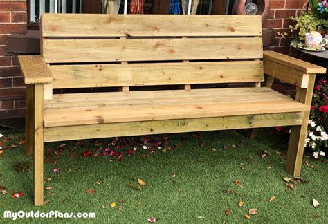 diy deck board outdoor bench myoutdoorplans