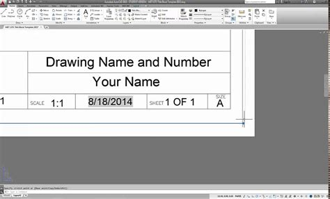 templates for autocad 2014 autocad 2015 how to create titleblock templates for