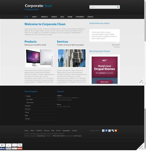 drupal themes not working corporate clean free drupal theme freedownload web