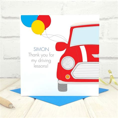 printable driving lesson voucher template personalised driving lessons card by chi chi moi