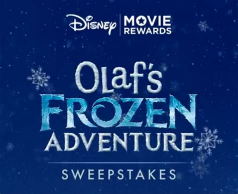 Disney Movie Rewards Sweepstakes - disney movie rewards olaf s frozen adventure sweepstakes giveaway gorilla