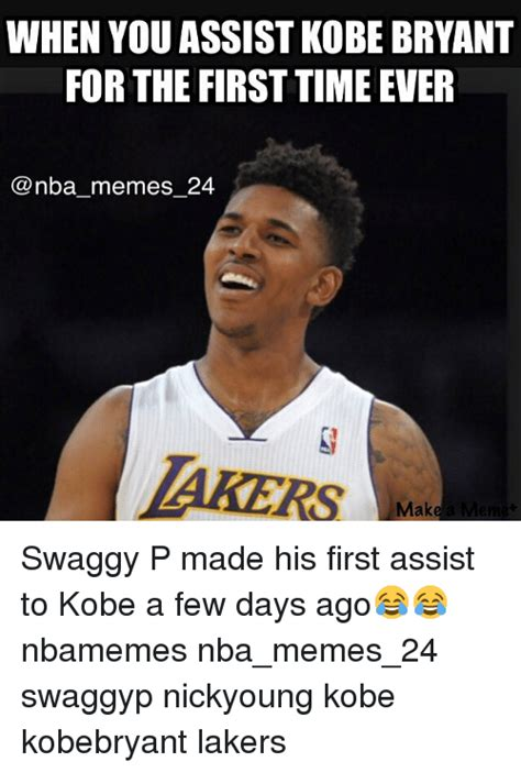 whst id the swaggy p haircut swaggy p meme when you assist kobe bryant for the first