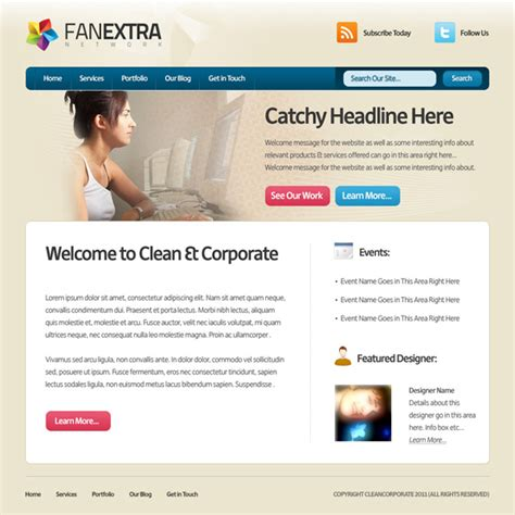 web layout tips design a clean corporate website layout psdfan