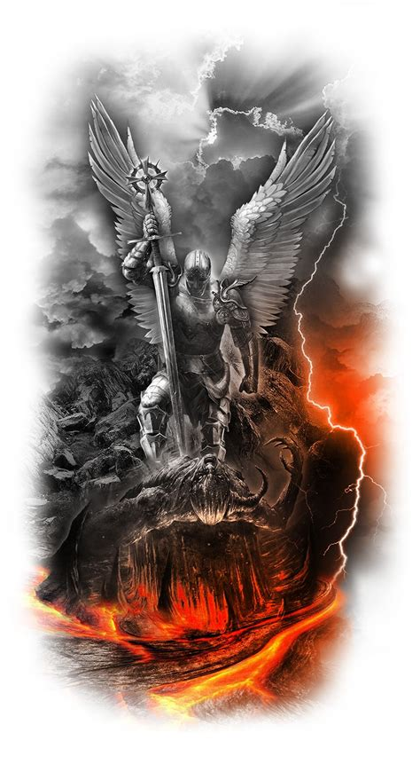 heaven v hell jpg 886 215 1 611 pixels tattoo s pinterest