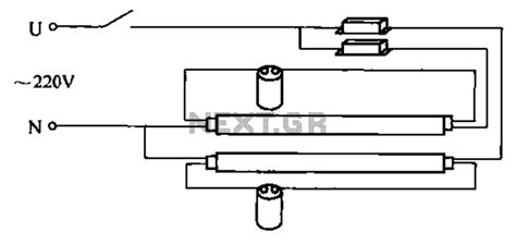 two fluorescent light wiring diagram two get free