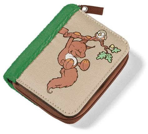 Blissen Forest Friends Pocket Wallet by Nici Forest Friends Quincy Oak Squirrel Wallet