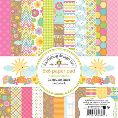 doodlebug scrapbook doodlebug design hello collection 6 x 6 paper pad
