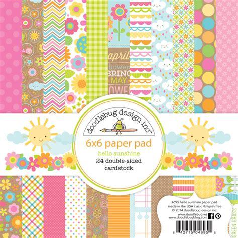 doodlebug scrapbooking doodlebug design hello collection 6 x 6 paper pad