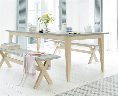 conker concrete top kitchen table loaf