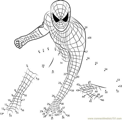 printable spiderman activity sheets amazing spiderman dot to dot printable worksheet connect