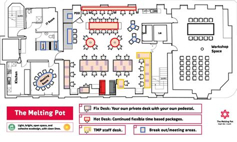 floor space planner view our spaces the melting pot