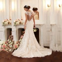 2016 mermaid wedding dress vestido de noiva cap