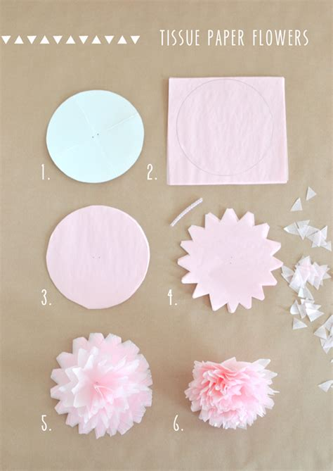 How To Make Small Flowers Out Of Tissue Paper - tissue paper flower garland artbar