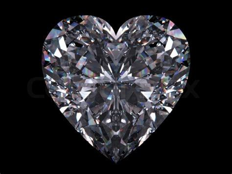 Diamond heart love, valentine day series 3d isolated