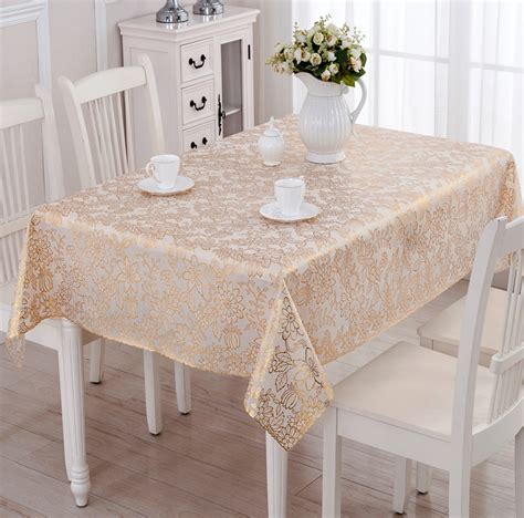 gold plastic table covers wipe clean pvc vinyl tablecloth dining rectangle silver