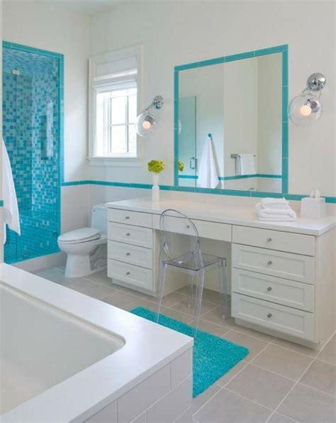 planning ideas white blue beach bathroom decorating carrelage bleu id 233 es d 233 co pour cuisine et salle de bain