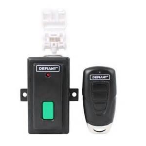defiant universal garage door key chain remote with visor clip