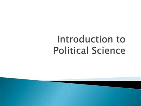 introduction to politics introduction to political science