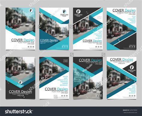 design cover set rxz blue collection set cover business brochure stock vector