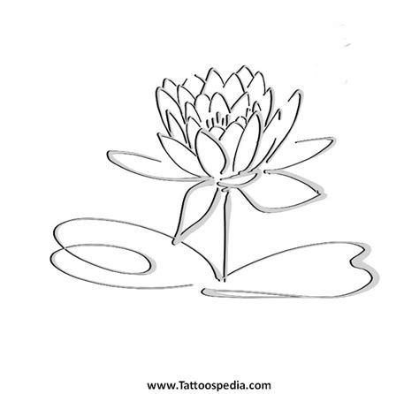 outline of lotus flower flower tattoos