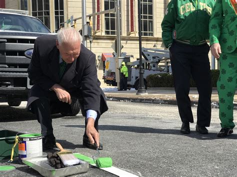 st s day parade wilmington de ahead of st s day parade mayor chief paint the lines green on king