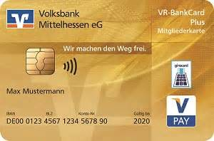 vr bank bruchsal bretten goldene girocard volksbank mittelhessen eg