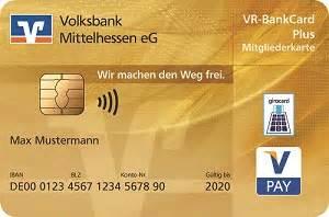 vr bank bruchsal goldene girocard volksbank mittelhessen eg