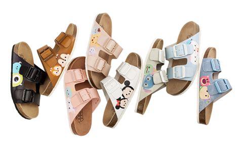 Sandal Karakter Tsum Tsum disney tsum tsum cork sandals รองเท าแตะส ดเก ส หวานพาสเทล ม กก ม นน ก มา