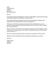 Rent Modification Letter Pin By Anitra Johnson On Hardship