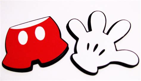 finger mouse template mickey clipart