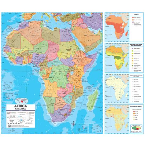 africa map updated continent roll maps africa advanced political