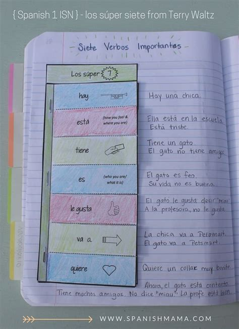 c section in spanish 17 best ideas about spanish interactive notebook on
