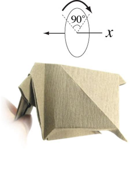 How To Make An Origami Cow - how to make a standing origami cow page 12