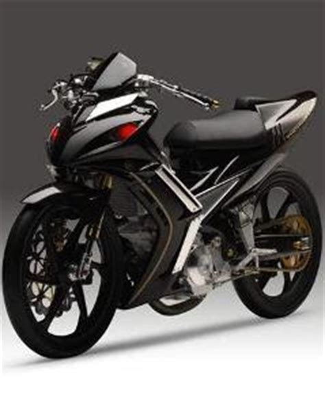 foto gambar modifikasi sepeda motor cat motor ceper stiker lu depan jok knalpot pelek z