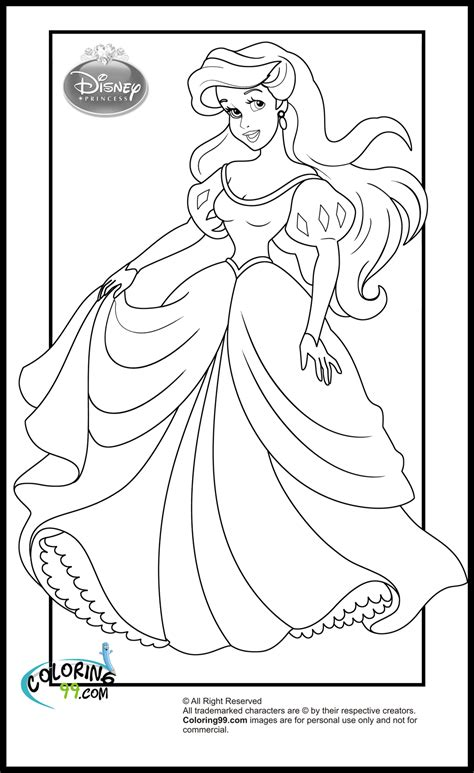 Disney Princess Coloring Pages Minister Coloring Princess Ariel Color Pages Printable
