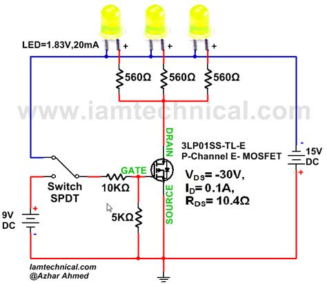 transistor mosfet switch p channel e type mosfet switching led s iamtechnical