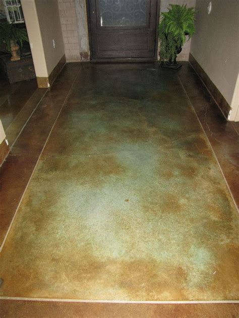 stained concrete floor one day in my master bath! i hate