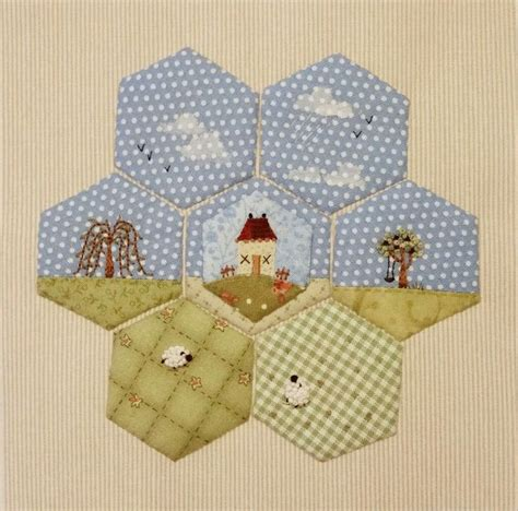 1913 best hexagon quilting images on