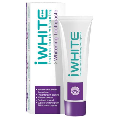 toothpaste whitening iwhite instant teeth whitening toothpaste 75ml free shipping reviews lookfantastic
